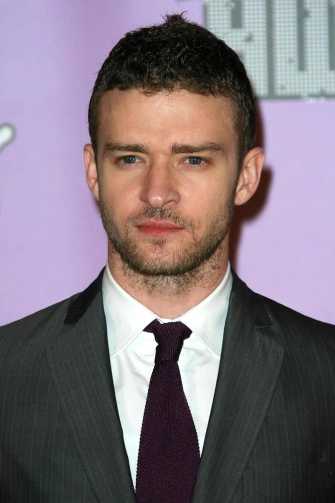 Justin Timberlake wearing an elegant suit as he attends the 2007 MTV Video Music Awards in The Palms Hotel And Casino, Las Vegas, Nevada.