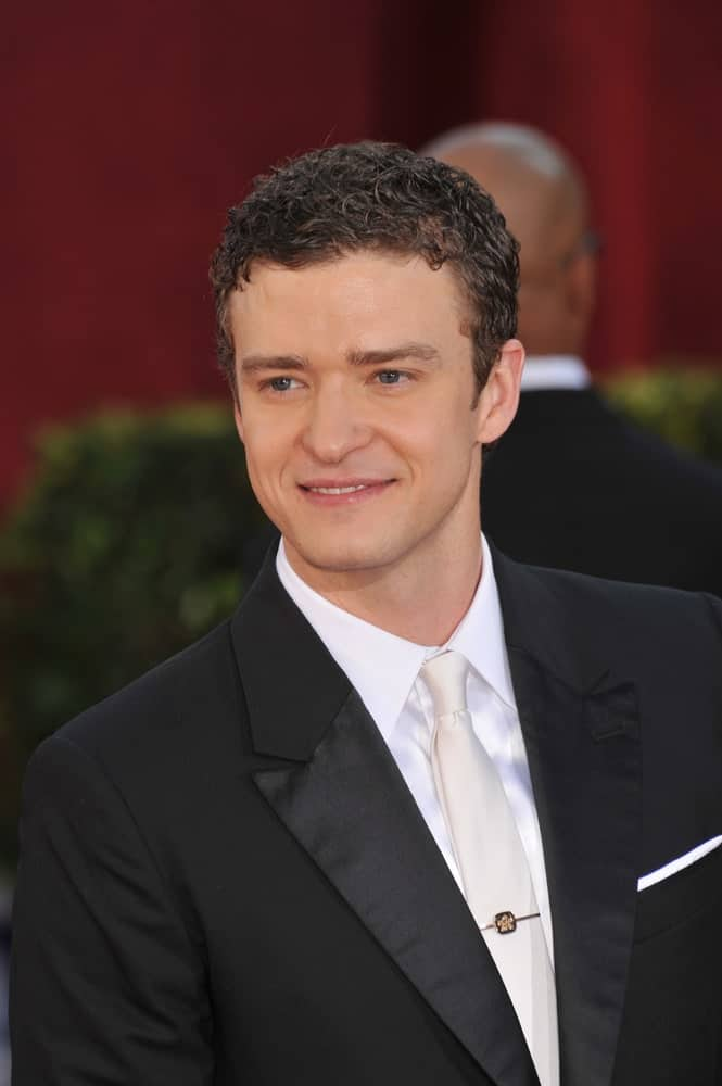 Justin Timberlake in a black suit at the 61st Primetime Emmy Awards at the Nokia Theatre L.A. Live. Photo taken on September 20, 2009.