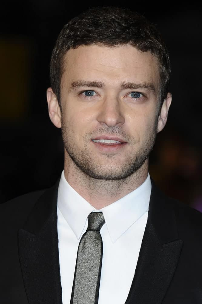 "The actor attended the premiere of ""In Time"" in his classic short wavy hair with a bit of five o'clock shadow to complement the black suit last October 31, 2011, at the Curzon Mayfair cinema, London."