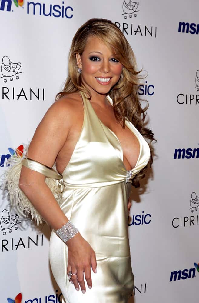 Mariah Carey looks blooming during The Emancipation of Mimi Release Party, Cipriani Restaurant, New York, NY, April 21, 2005.