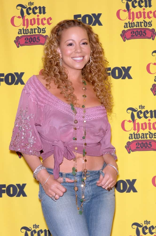 Mariah Carey poses during the 2005 Teen Choice Awards at the Universal Amphitheater, Hollywood. August 14, 2005, Los Angeles, CA 2005.