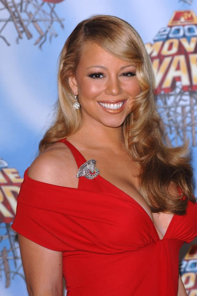 Mariah Carey at the 2005 MTV Movie Awards at the Shrine Auditorium on June 4, 2005, in Los Angeles, CA.