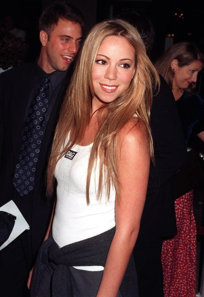 Mariah Carey at the premiere in Los Angeles of Brad Pitt's new movie,