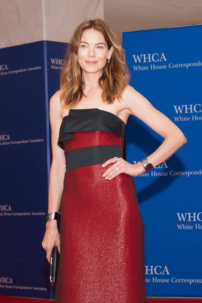 Michelle Monaghan poses at the White House Correspondents Association Dinner on April 25, 2015, in Washington, DC.