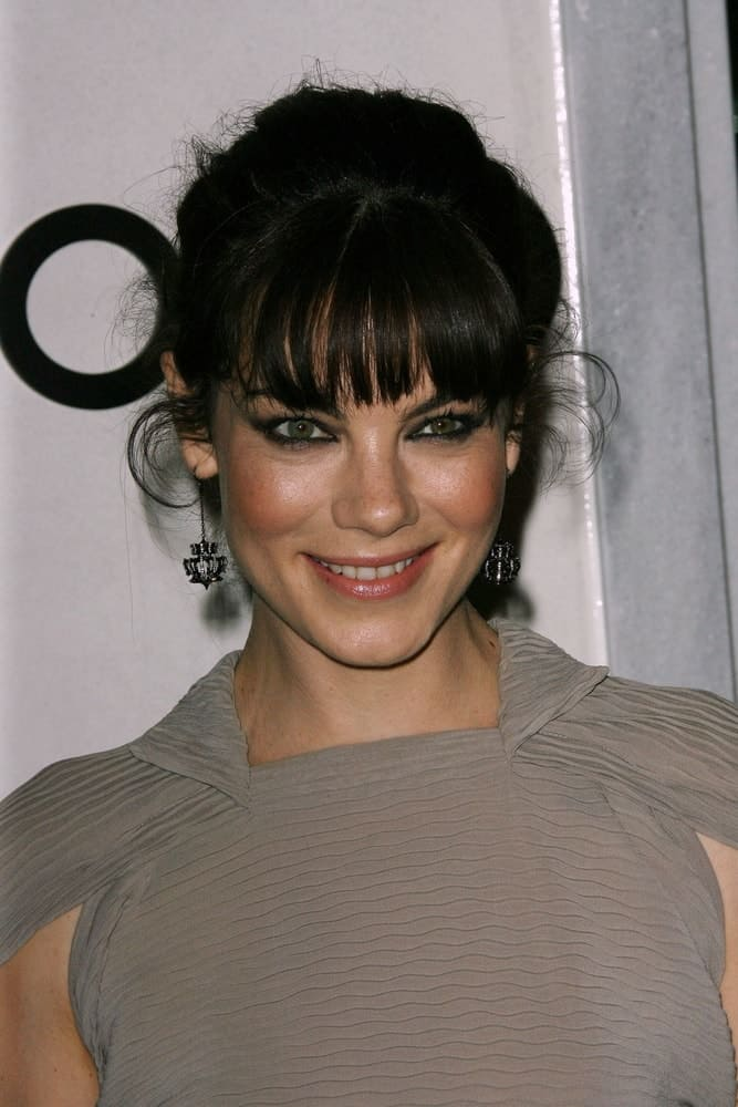Michelle Monaghan smiles during the Tom Ford Beverly Hills Store Opening at Tom Ford, Beverly Hills, CA on Feb. 24, 2011.