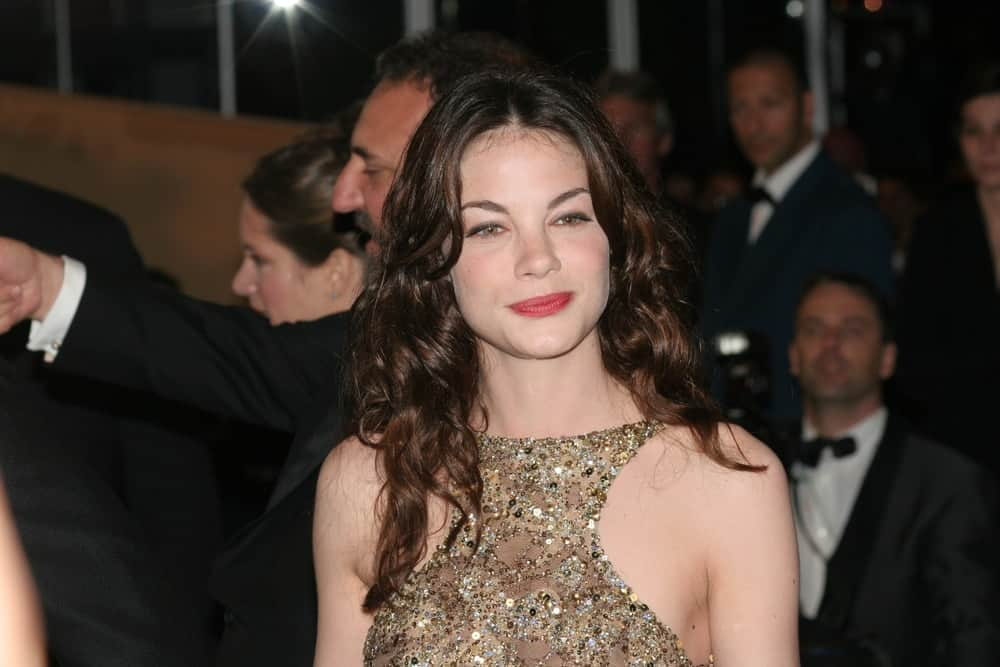 Michelle Monaghan gives a tight-lipped smile at a screening of 'Kiss Kiss Bang Bang' at the Grand Theatre during the 58th International Cannes Film Festival on May 14, 2005, in Cannes, France.