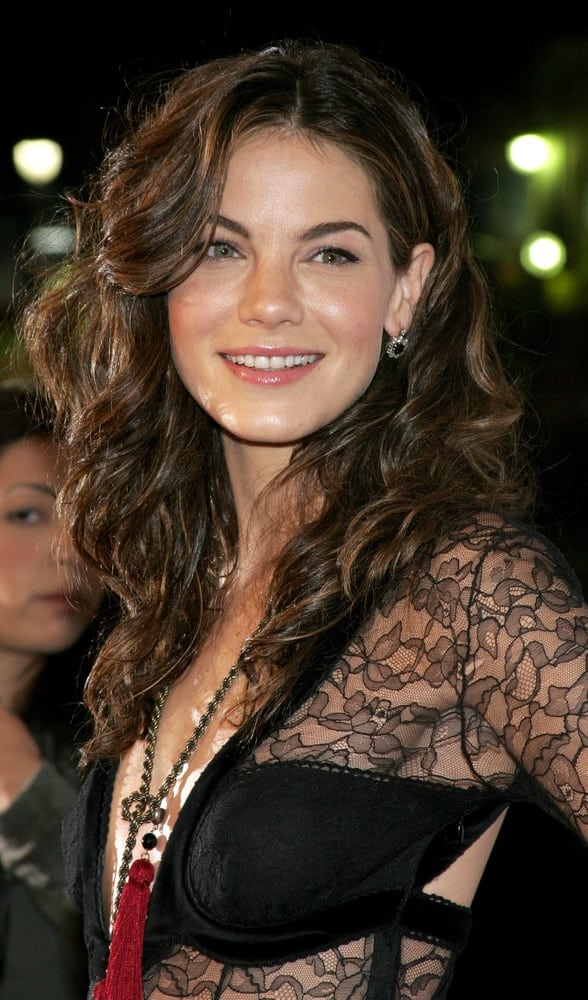 Michelle Monaghan smiles at the Los Angeles premiere of 'Kiss Kiss, Bang Bang' held at the Grauman's Chinese Theater in Hollywood, USA on October 18, 2005.