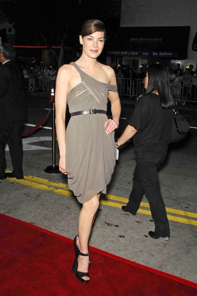 Michelle Monaghan poses at the red carpet for GONE BABY GONE Premiere held at Mann's Bruin Theatre, Los Angeles, CA on October 08, 2007.