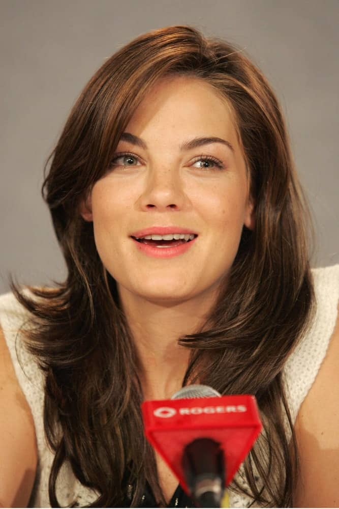 Michelle Monaghan speaks at KISS, KISS, BANG, BANG press conference at Sutton Place Hotel, Toronto, ON, on September 09, 2005.