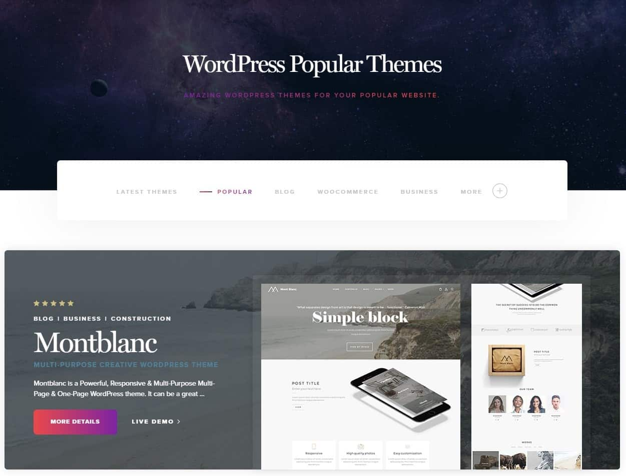 Montblanc Word Press Theme