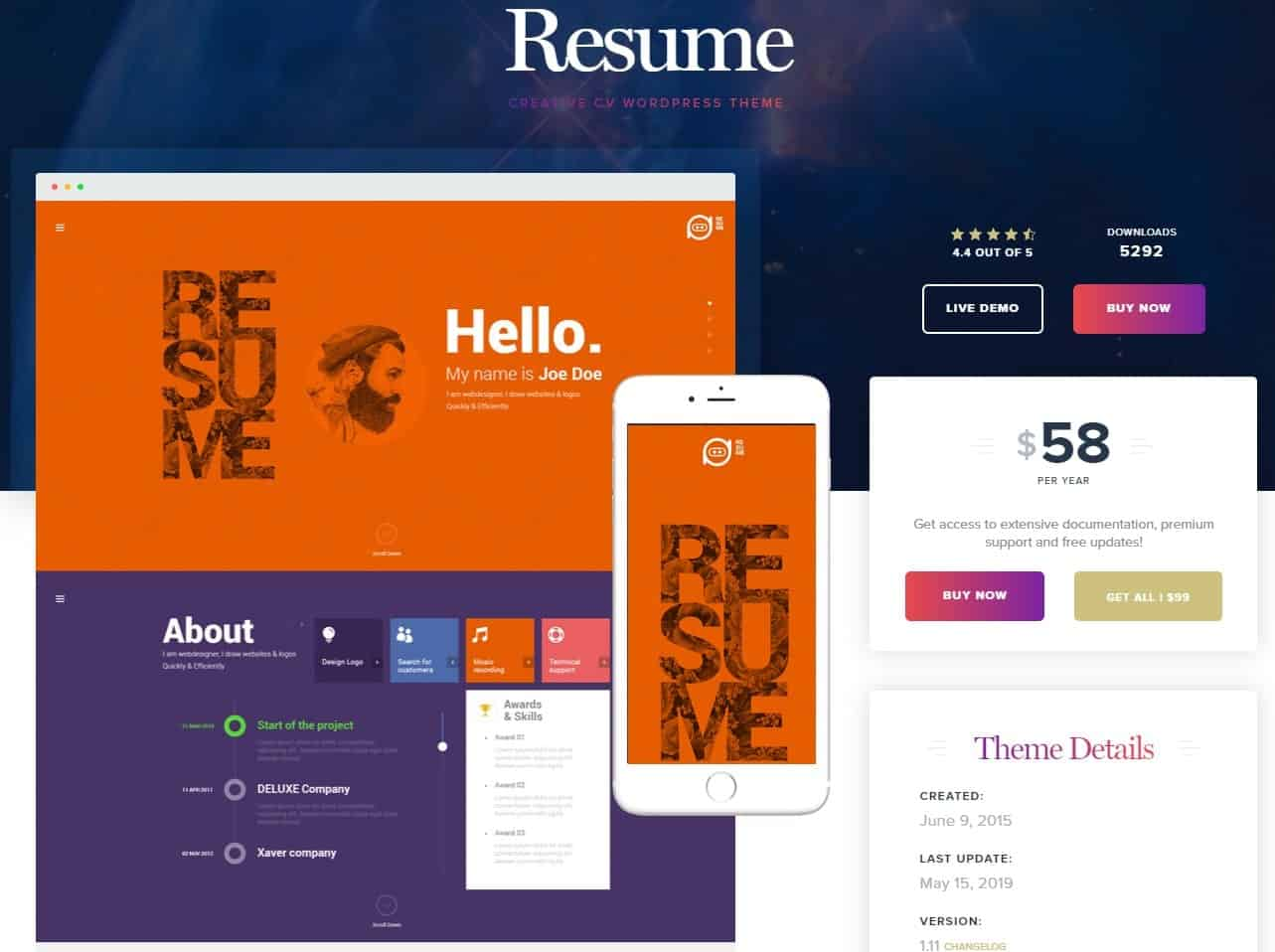 Resume Word Press Theme