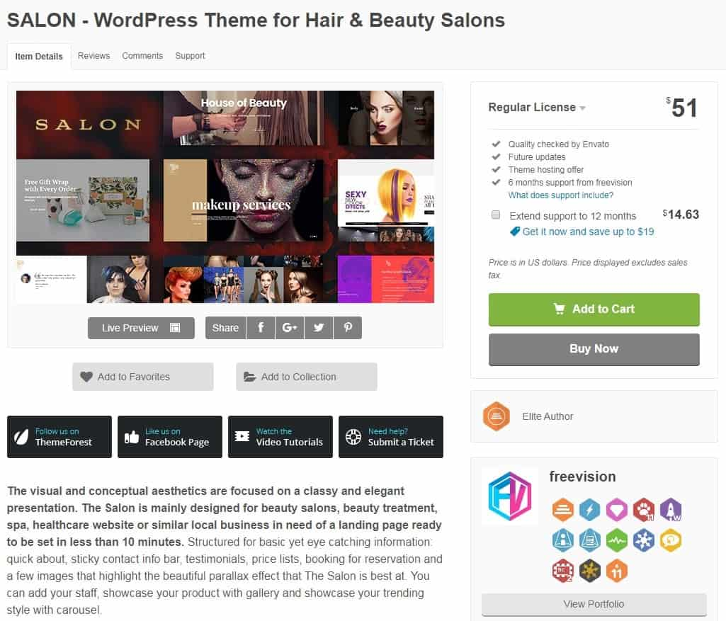 Salon Word Press Theme