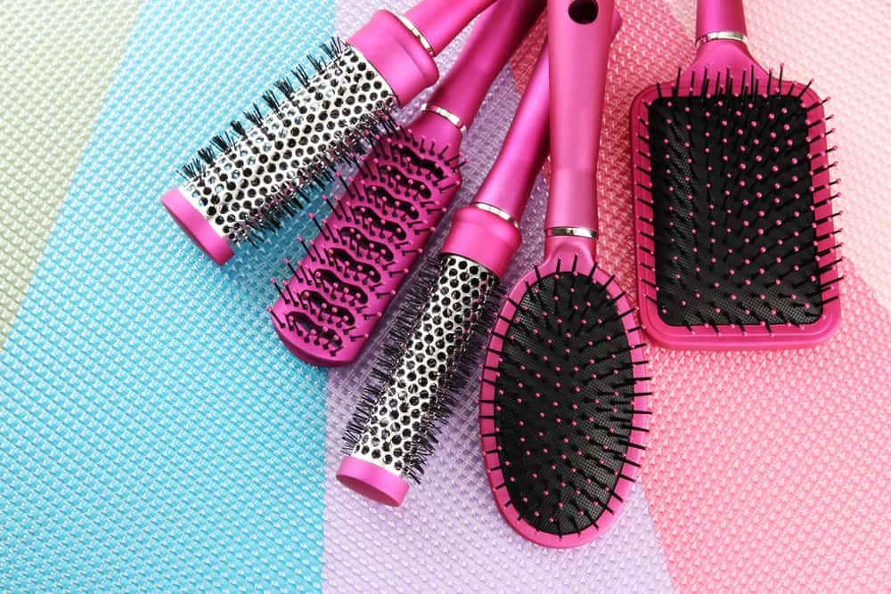 Various hair brushes