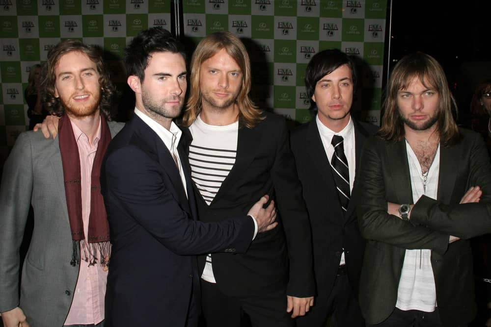 Adam Levine and the rest of Maroon 5 were at the 16th Annual Environmental Media Association Awards at Wilshire Ebell Theatre on November 08, 2006 in Los Angeles. Levine wore a dapper dark suit with his tousled and spiked hairstyle.