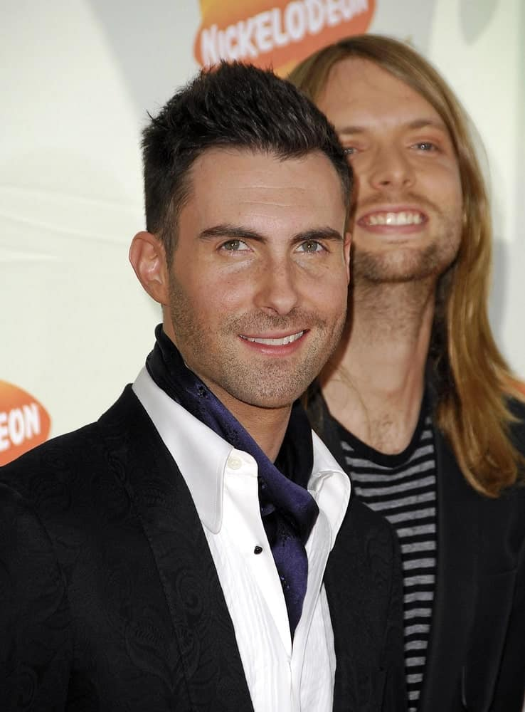 Adam Levine wore a stylish cravat with his iconic spiked fade hairstyle at the Nickelodeon's 20th Annual Kids' Choice Awards held at the Pauley Pavilion in Westwood on March 31, 2007.