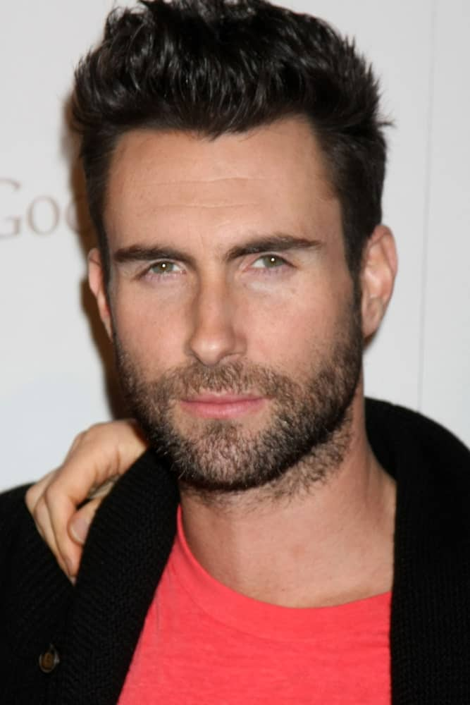 Adam Levine arrived at the Google Music Launch at Mr. Brainwash Studio on November 16, 2011 in Los Angeles wearing a casual shirt that went quite well with his sexy brushed up pompadour look.