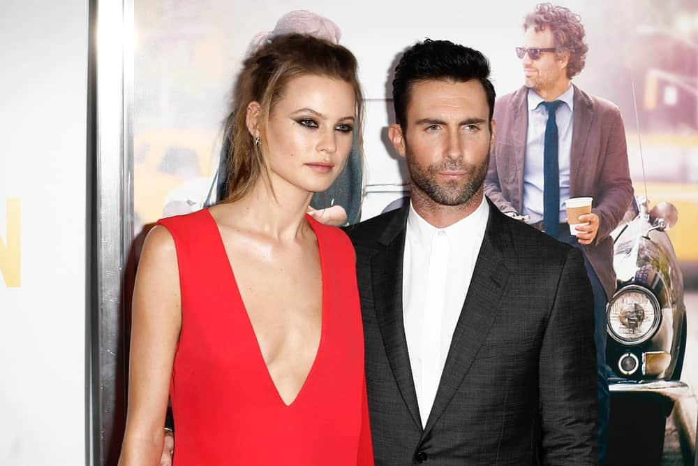 Behati Prinsloo and Adam Levine attended the New York premiere of