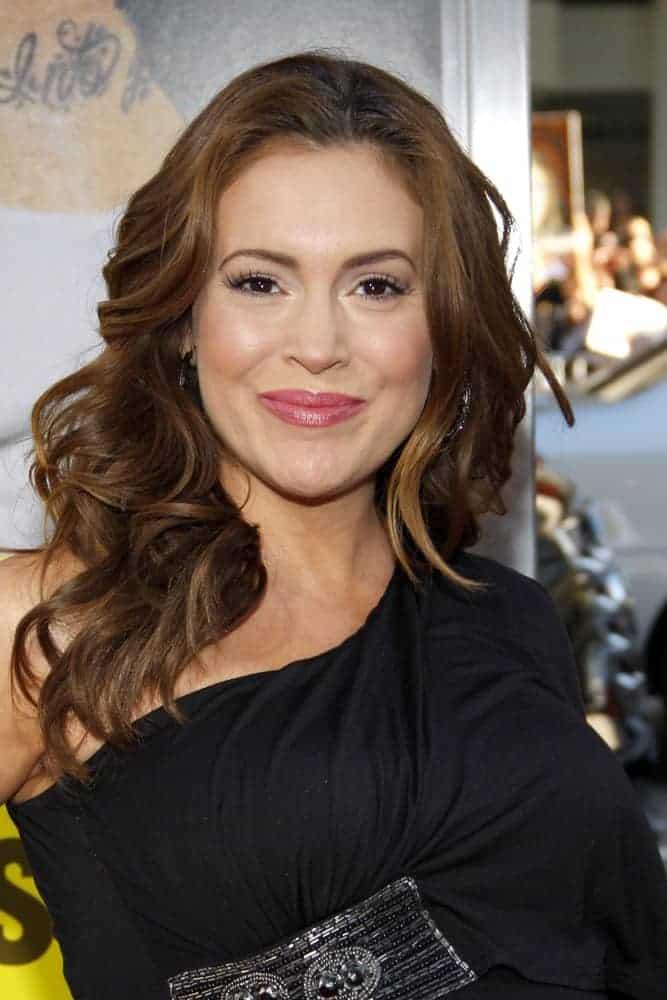 "Alyssa Milano rocked the easy-breezy look with her big loose curls at the Los Angeles premiere of ""Horrible Bosses"" on June 30, 2011."