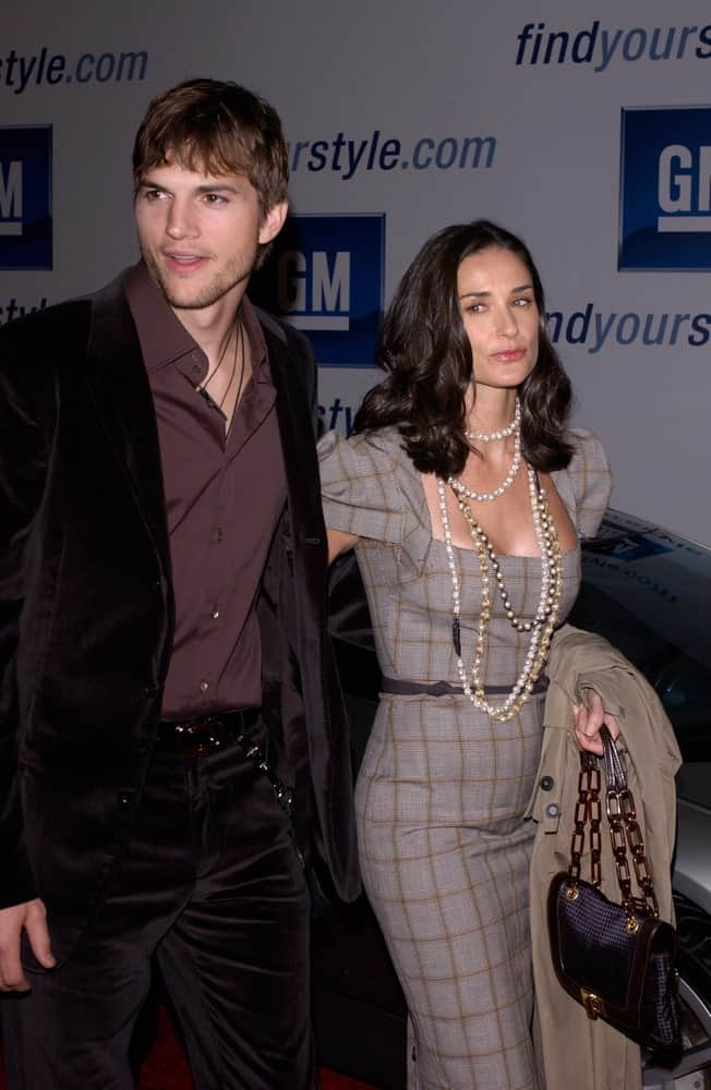 On February 22, 2005 in Los Angeles, Demi Moore & Ashton Kutcher were at the General Motors 4th Annual