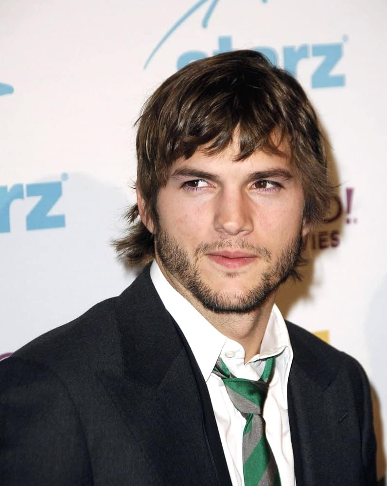 Ashton Kutcher was quite rugged with his trimmed beard and tousled carefree fringe at the Hollywood Film Festival 10th Annual Hollywood Awards in The Beverly Hilton Hotel, Beverly Hills on October 23, 2006
