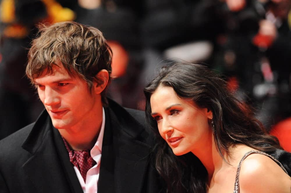 Demi Moore and Ashton Kutcher attended the premiere of 'Happy Tears' at the 59th Berlin Film Festival at the Berlinale Palast on February 11, 2009 in Berlin. Kutcher's beautiful curls were perfectly tousled for a fringe finish.