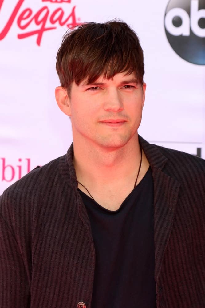 Ashton Kutcher at the Billboard Music Awards 2016 at the T-Mobile Arena on May 22, 2016 in Las Vegas, NV.