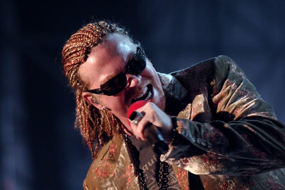 Guns N' Roses singer Axl Rose during a concert in 2006.
