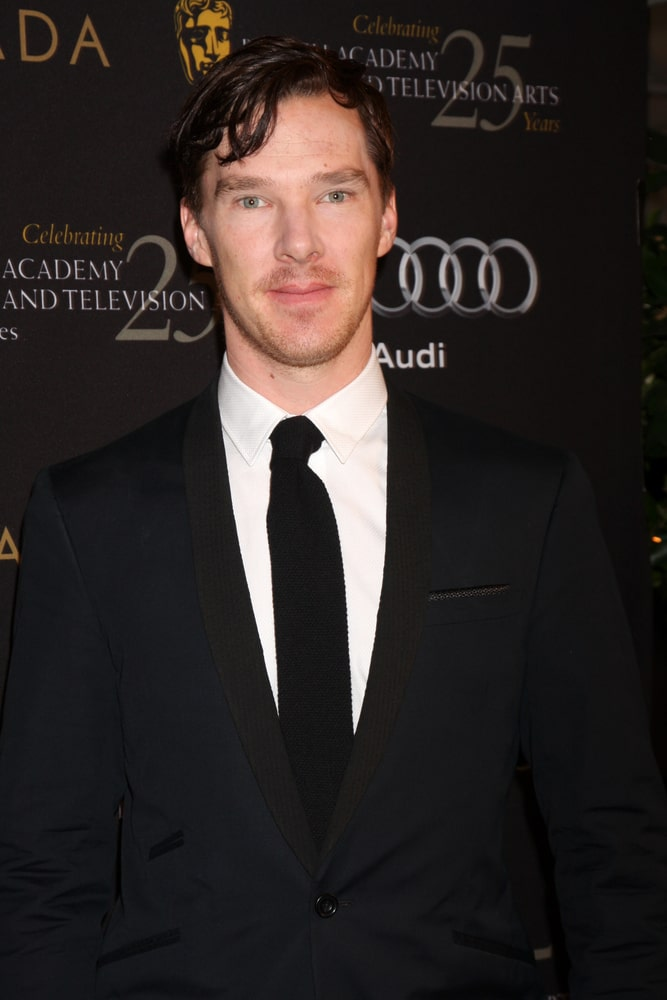 The actor arrived at the BAFTA Award Season Tea Party 2012 at Four Seasons Hotel on January 14, 2012 with loose side-parted hair.