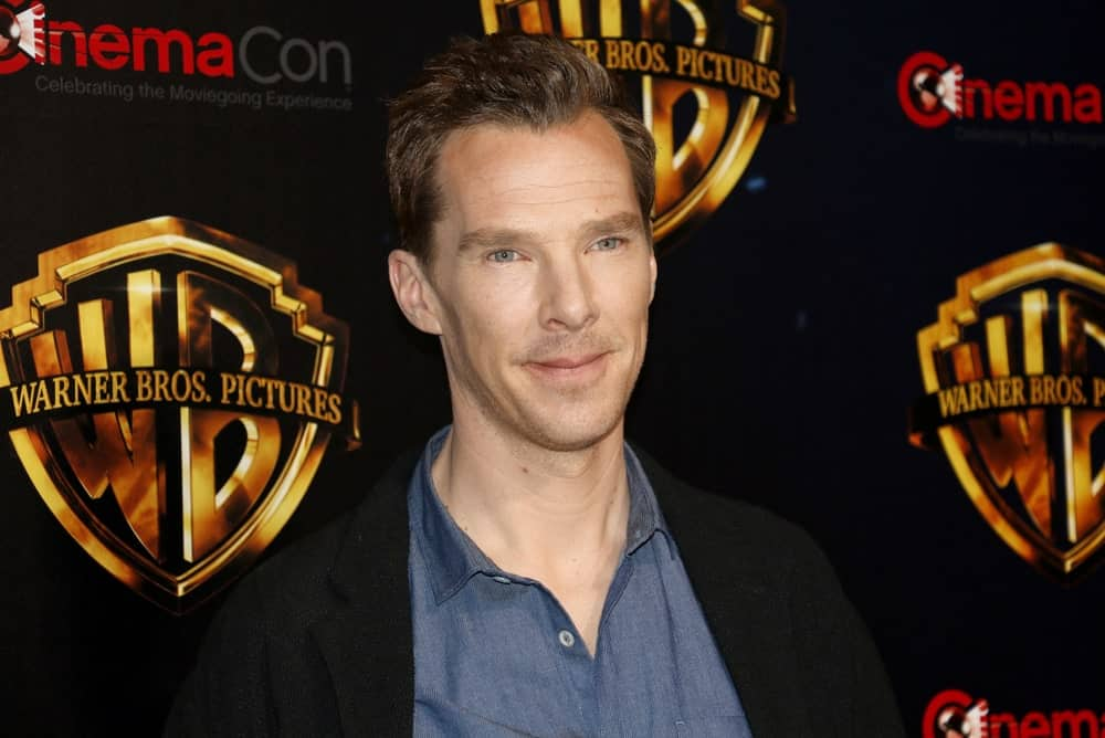 Benedict Cumberbatch had a combed over hairstyle at the 2018 CinemaCon - Warner Bros. Pictures 'The Big Picture' Presentation held on April 24, 2018.