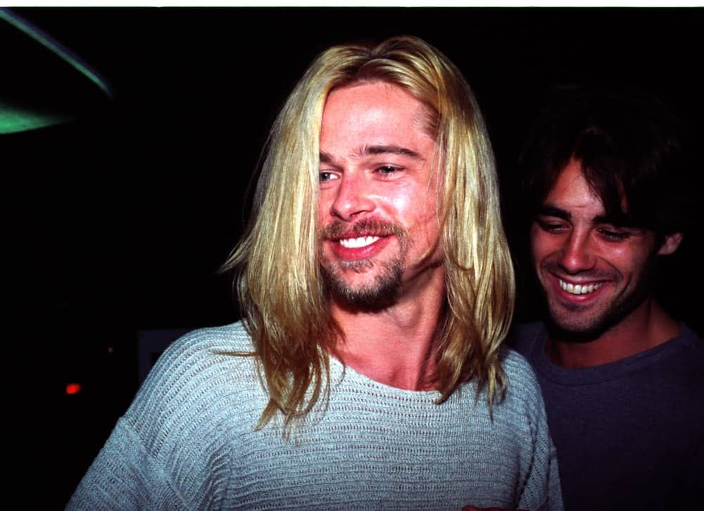 Back in January 25, 1994, A young Brad Pitt with long blond hair and goatee left Roxbury Nightclub with friends in Los Angeles.