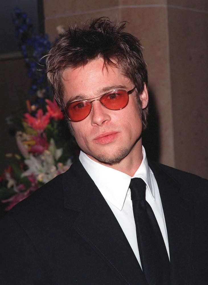 Actor BRAD PITT was at the Beverly Hilton Hotel where Tom Cruise was honored with the 1998 John Huston Award by the Artists Rights Foundation. Pit had tousled and spiked short hair with long sideburns.