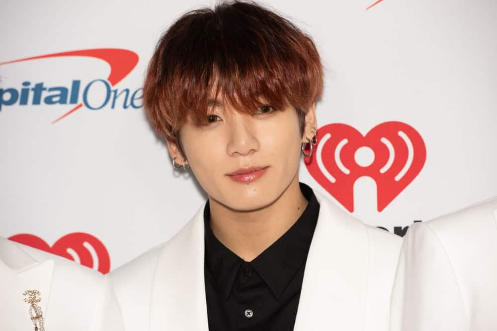 South Korean boy band BTS member arrives for the KIIS FM's iHeartRadio Jingle Ball at the Forum Los Angeles in Inglewood, California on December 6, 2019.