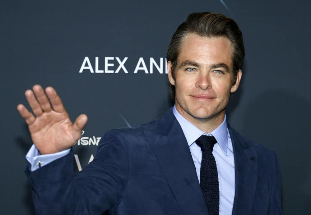 Chris Pine was a picture of classy sophistication with his blue velvet suit and slick side-swept pompadour hairstyle at the Los Angeles premiere of 'A Wrinkle In Time' held at the El Capitan Theater in Hollywood last February 26, 2018.