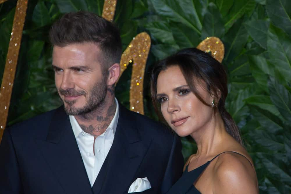 David and Victoria Beckham were spotted at The Fashion Awards 2018 on December 10th in London, England. David sported his iconic fade haircut that goes perfectly with his tight beard.