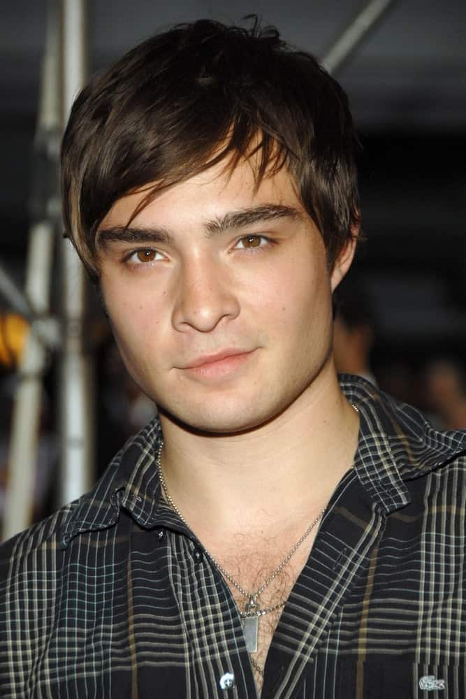 Ed Westwick at the Premiere of Sisterhood of the Traveling Pants 2 held at The Ziegfeld Theatre, New York, NY on July 28, 2008.