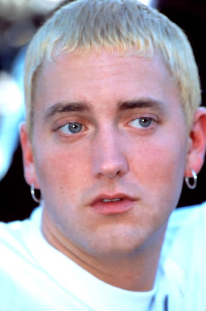 Eminem at Source Awards, LA, in 1999.