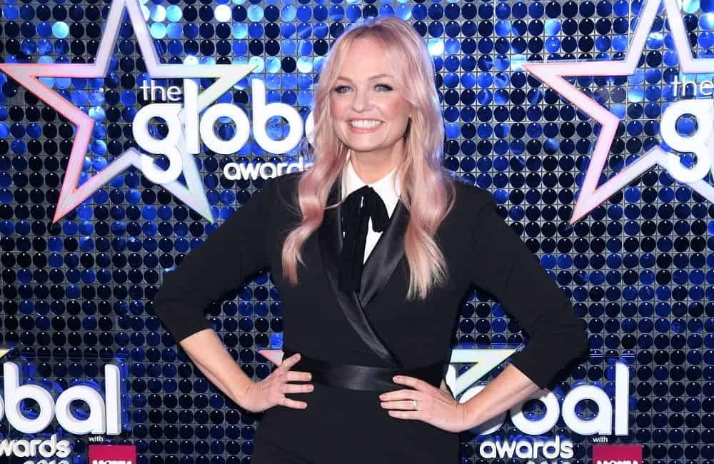Singer-songwriter Emma Bunton wore an all-black outfit complementing her flowing pink wavy hair with middle parting at the Global Awards 2019 held on March 7th.