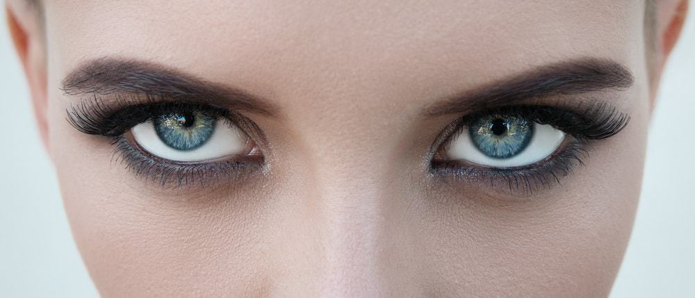 Closeup on a woman's eyes.