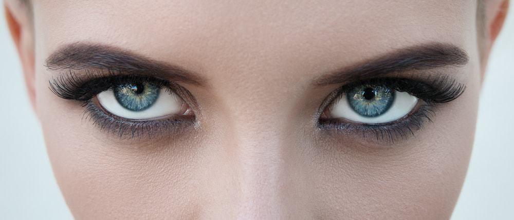 Closeup on a woman's eyes.