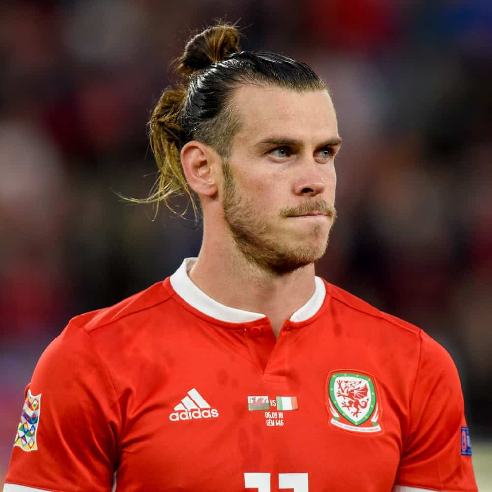 Gareth Bale during the Wales vs Ireland match at Cardiff City Stadium in 2018.