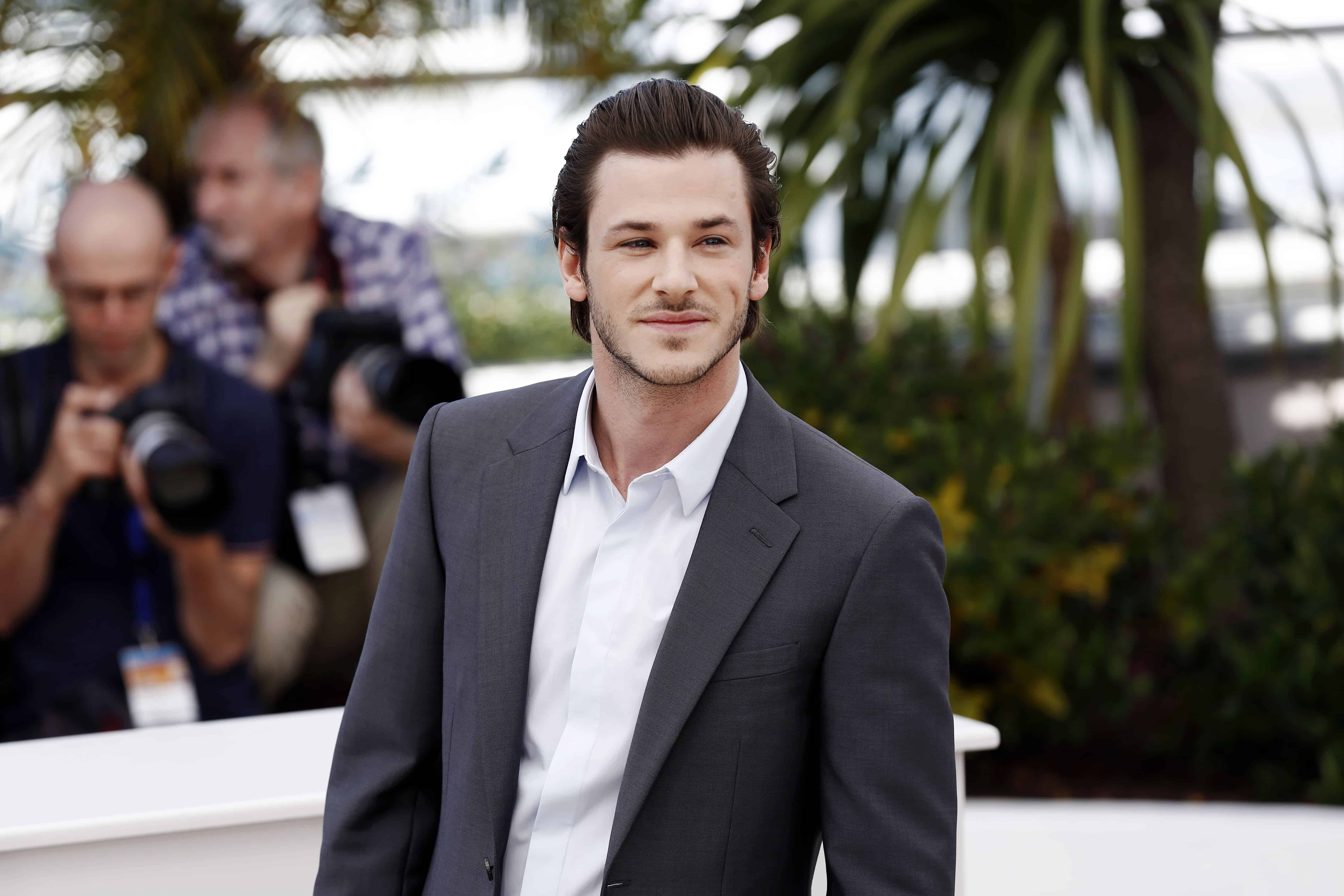 Gaspard Ulliel sporting a beautiful slicked back hairstyle during the 67th Cannes Film Festival.