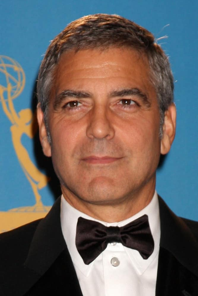 George Clooney in the Press Room at the 2010 Emmy Awards at Nokia Theater at LA Live on August 29, 2010 in Los Angeles, CA