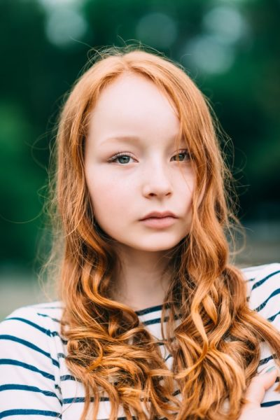 Golden copper red hair