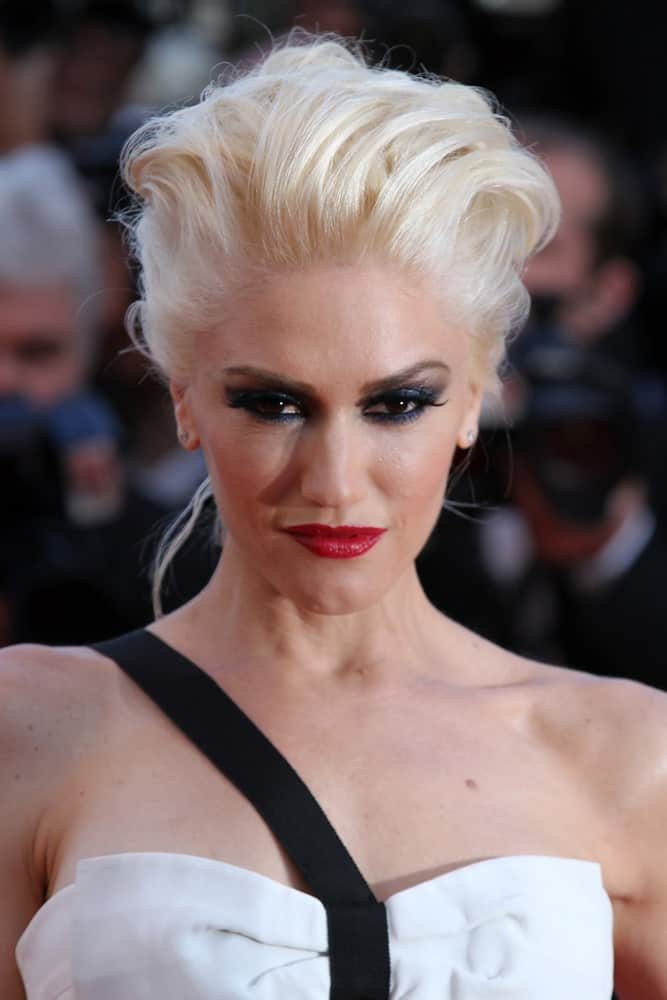 Gwen Stefani was seen at the Cannes Film Festival last May 20, 2011, in Cannes, France. She was stylish in her white dress complemented by her tousled beehive upstyle.