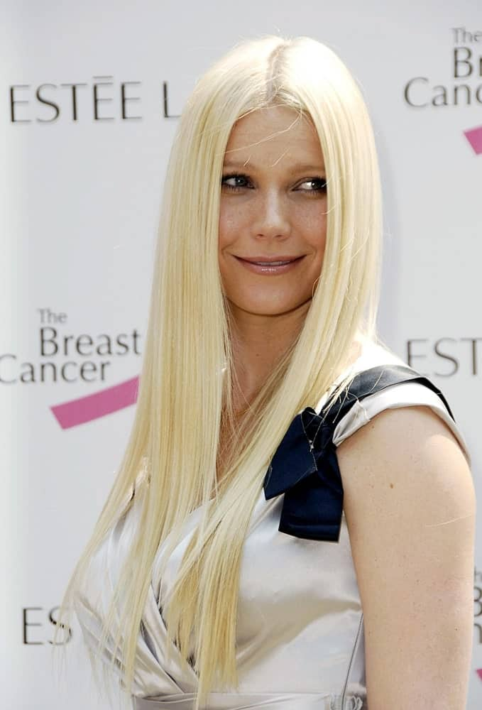 Gwyneth Paltrow exhibited her long straight tresses with middle parting at the Aerin Lauder Luncheon to Honor Gwyneth Paltrow Collection on September 20, 2006.