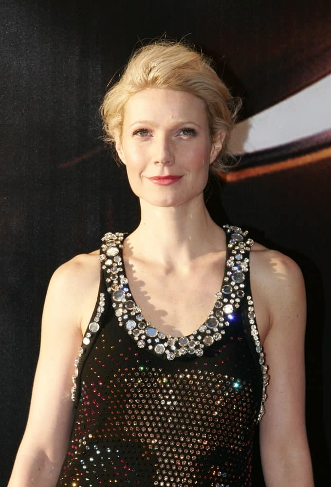Gwyneth Paltrow shines in a sparkling black dress and a simple glam upstyle during the Europe premiere of Iron Man last April 22, 2008 in Berlin.