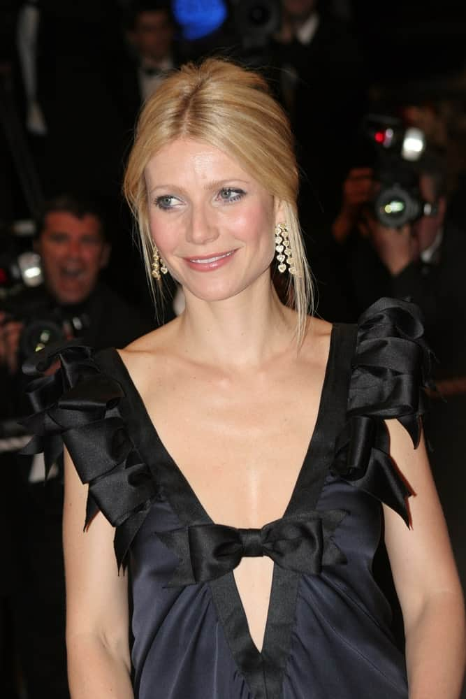 Gwyneth Paltrow opted for a center-parted upstyle incorporated with side tendrils at the Two Lovers premiere during the 61st Cannes International Film Festival on May 19, 2008.