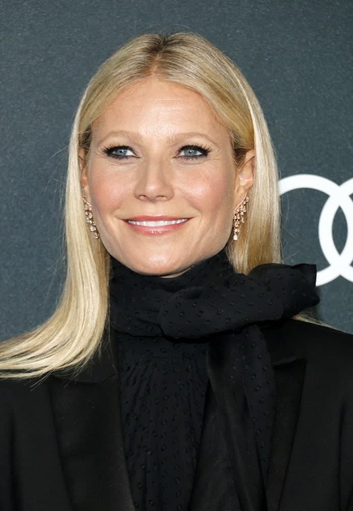Gwyneth Paltrow showcased a sleek look with her center-parted straight blonde hair at the World premiere of 'Avengers: Endgame' held on April 22, 2019.