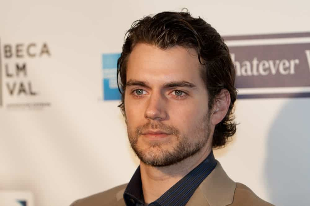 Actor Henry Cavill tousled his wavy black hair for the 8th Annual Tribeca Film Festival 'Whatever Works' premiere at the Ziegfeld on April 22, 2009.