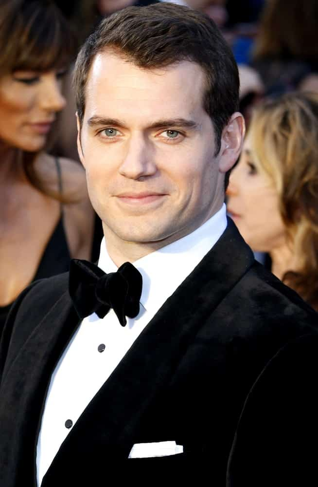 Henry Cavil opted for short textured black hair during the 88th Annual Academy Awards held at the Hollywood & Highland Center on February 28, 2016.